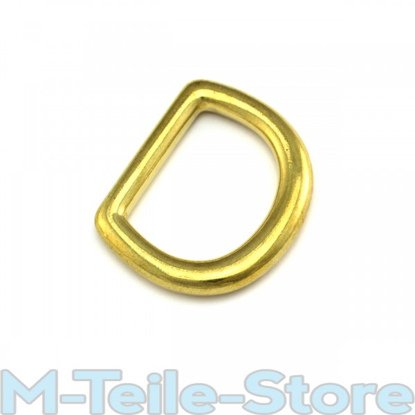 "5 D-Ringe / Halbringe 20 x 4mm 3/4"" Zoll Rein Messing D-Ring"